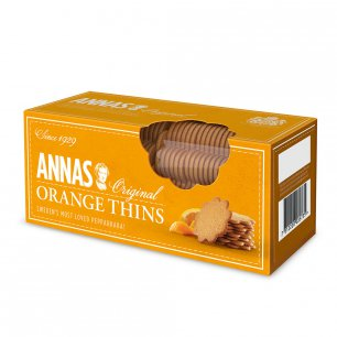 ANNAS Orange Thins Тонкое печенье апельсином