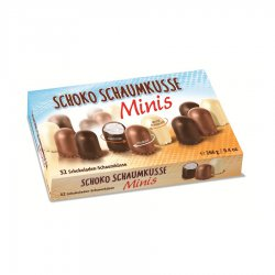 Grabower Minis Ассорти воздушного суфле, покрытого белым, молочным и темным шоколадом